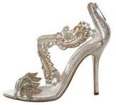 Oscar de la Renta Ambria Bead-Embellished Sandals