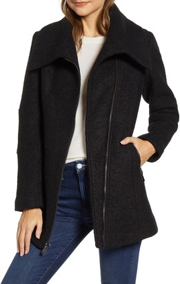 Kenneth Cole New York Kenneth Cole Wool Blend Boucle Car Coat