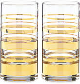 Kate Spade Hampton Street Set of 2 Highball Glasses