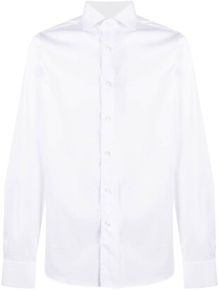 Canali Point-Collar Slim-Fit Shirt