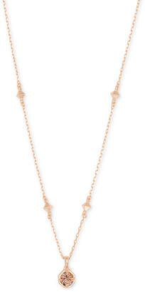 Kendra Scott Nola Rose Gold Pendant Necklace in Rose Gold Drusy