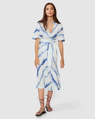 SUBOO Estelle Maxi Tie Wrap Dress