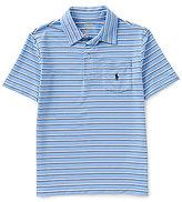 Ralph Lauren Big Boys 8-20 Striped Performance Short-Sleeve Polo Shirt