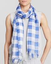 Aqua Gingham Scarf - 100% Exclusive