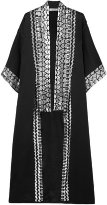 Temperley London Sequin-embellished Satin-crepe Kimono