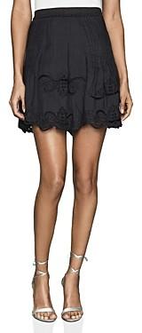 Reiss Blath Embroidered Mini Skirt