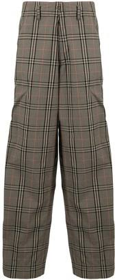 Kolor Loose Fit Checked Trousers