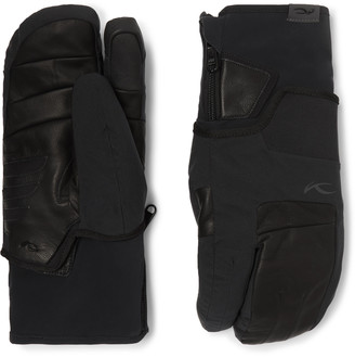 Kjus 7sphere Ii 2-In-1 Leather And Stretch Ski Mittens