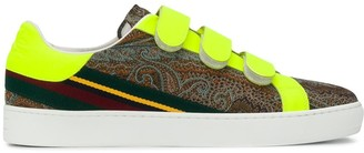 Etro Fluorescent Three-Strap Sneakers