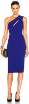 Victoria Beckham Matte Crepe On Shoulder Fitted Cut Out Dress