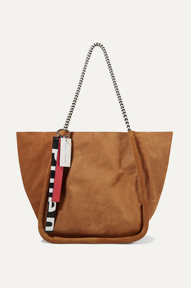 Proenza Schouler Large Leather-trimmed Suede-corduroy Tote - Tan