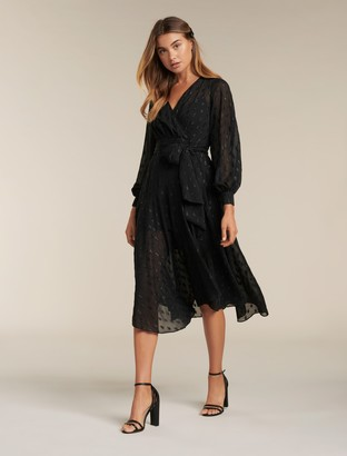 Ever New Jojo Petite Metallic Midi Dress