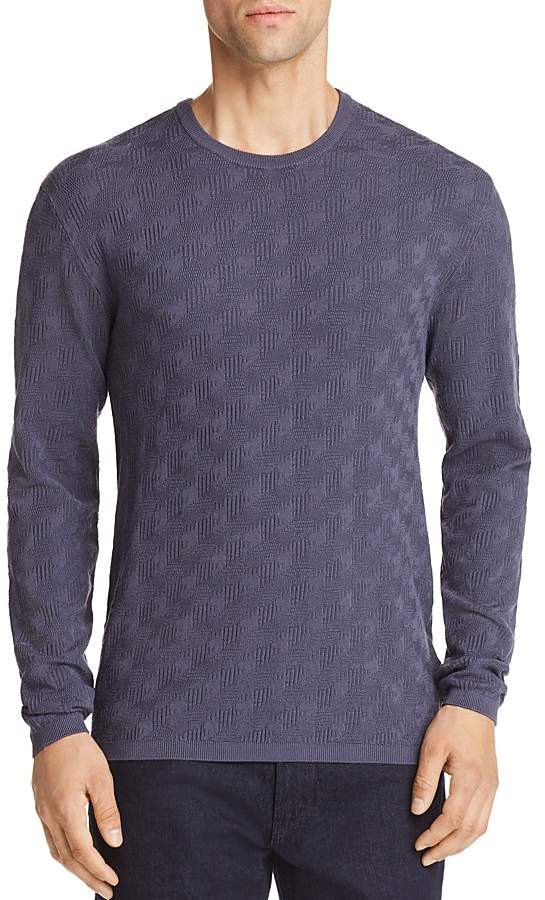 Emporio Armani Chevron Tonal Textured Pullover