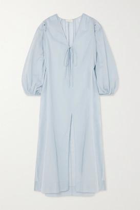 CLOE CASSANDRO + Net Sustain Lea Organic Cotton-gauze Midi Dress - Sky blue