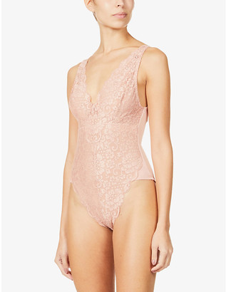 We Are HAH Lady N W8ing stretch-lace bodysuit