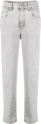 Brunello Cucinelli Acid Wash Straight-Leg Jeans