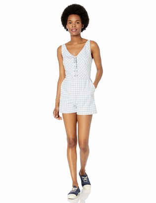 BB Dakota Women's Check it Out Yarn Dyed Cotton Gingham Romper