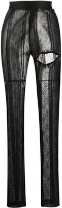 Ann Demeulemeester Lace-Pattern Cut-Out Leggings