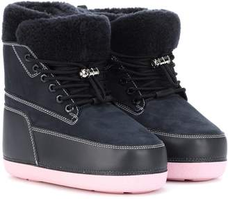 Kenzo Suede and leather ankle boots