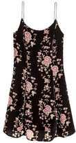 H&M Burnout-patterned Dress - Black floral - Ladies