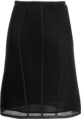 Fendi micromesh midi skirt