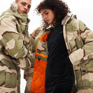 Lacoste Unisex LIVE Faux Fur Hooded Parka
