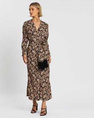 Rebecca Vallance Josephine Long Sleeve Midi Dress