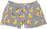 MC2 Saint Barth Striped Ducky Print Nylon Swim Shorts