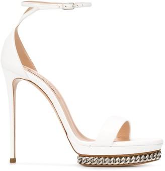 Casadei Chain Trim Stiletto Sandals
