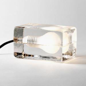 Design House Stockholm Block Lamp Desk Bedside Table Light - Glass