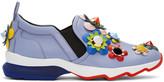 Fendi Purple Flowerland Sneakers