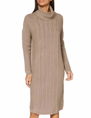 APART Fashion Women's Knitted Rollneck Dress Casual