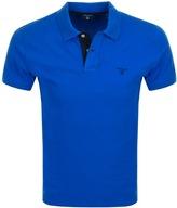 Gant Contrast Collar Rugger Polo T Shirt Blue