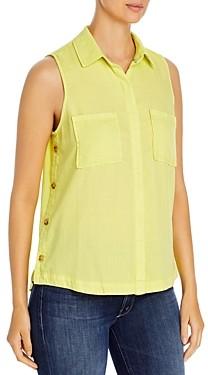 BILLY T Button Front Sleeveless Shirt