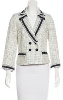 Rebecca Taylor Knit Notched-Lapel Blazer