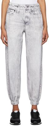 rag & bone Grey French Terry Miramar Jogger Jeans