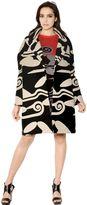 Diane von Furstenberg Printed Wool Cotton Blend Coat