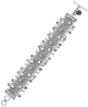 Lois Hill Multi-Disc Wide Chain Toggle Bracelet in Sterling Silver
