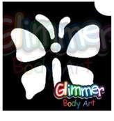 Glimmer Body Art Glitter Tattoo Stencils - Butterfly 10 (5/pack)
