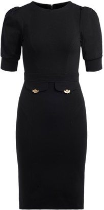 Versace Jeans Couture Short-sleeved Black Dress