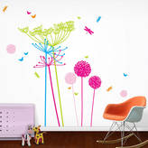 Little Darlings funky Fluoro Dandelions Wall Stickers