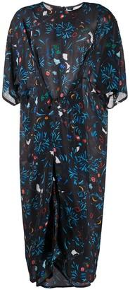 Anntian Garden Party-print silk dress