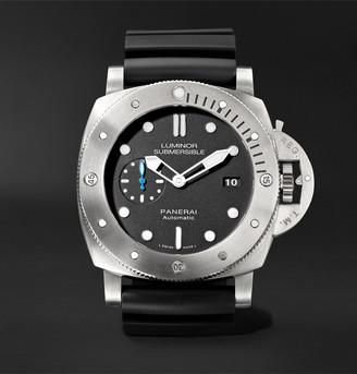 Panerai Luminor Submersible 1950 3 Days Automatic 47mm Titanium And Rubber Watch, Ref. No. Pam01305