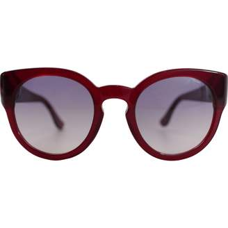 Chrome Hearts Red Plastic Sunglasses