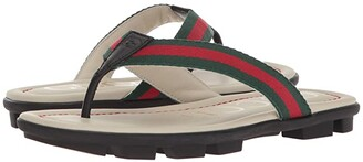 Gucci Kids Titan Beach Flip-Flop (Little Kid) (Orange/Nero) Kids Shoes
