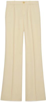 Gucci Wool silk flare trousers