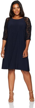 Julian Taylor Women's Size Lace Sleeve Dress Plus