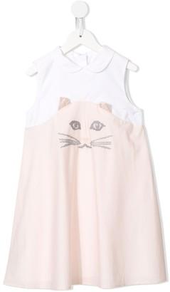Charabia Cat Print Dress