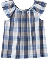 Joe Fresh Kid Girls' Pleat Top, Blue (Size L)