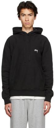 Stussy Black Stock Logo Hoodie